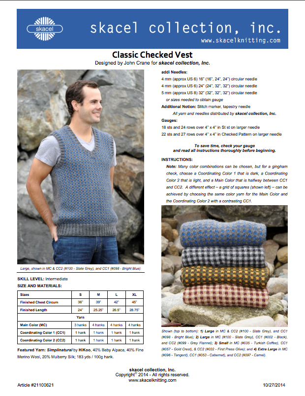 Classic Checked Vest - Free PDF Pattern Download - copy