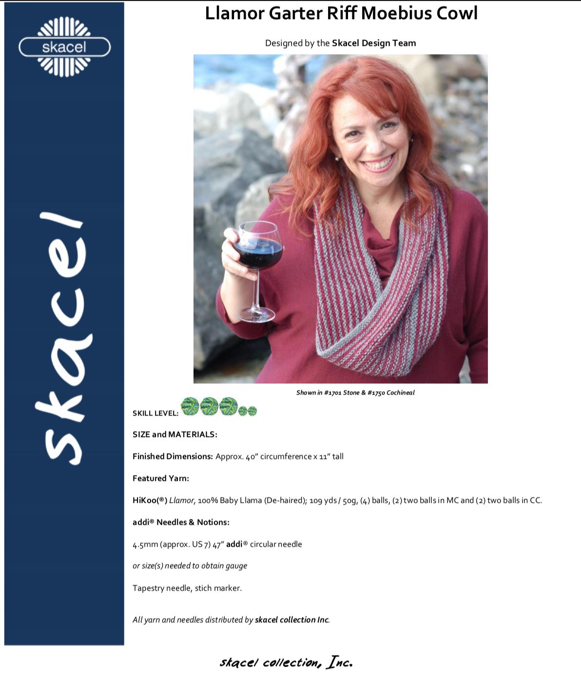 Garter Riff Moebius Cowl - free PDF download