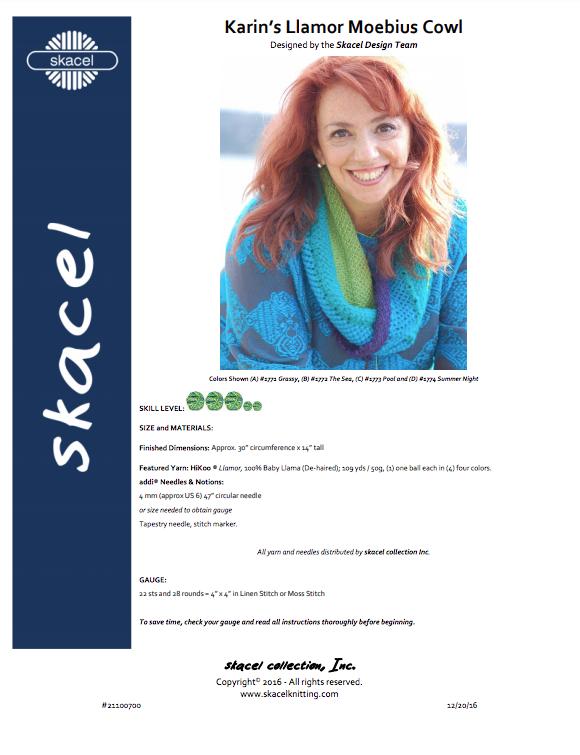 Karin's Llamor Moebius Cowl - free .pdf pattern download