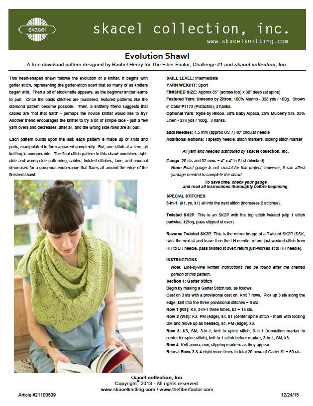 Evolution Shawl - free PDF download
