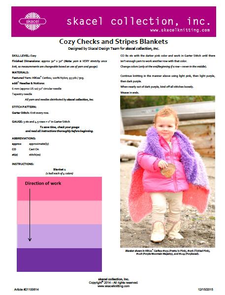 Cozy Checks and Stripes Blanket - Free pattern .pdf download