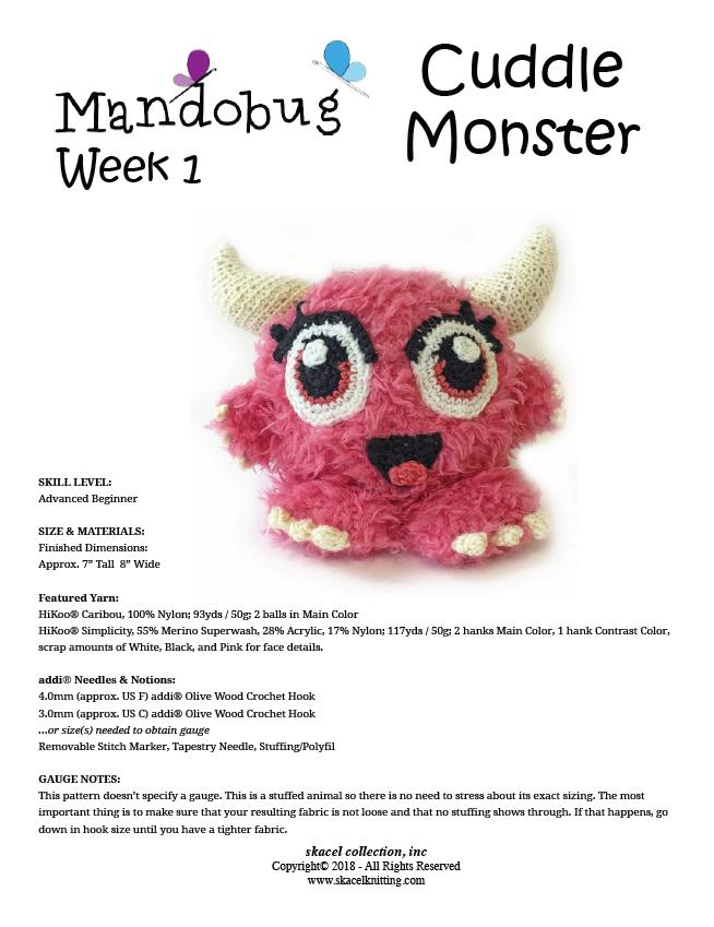 Cuddle Monster Crochet Pattern - Free PDF Download