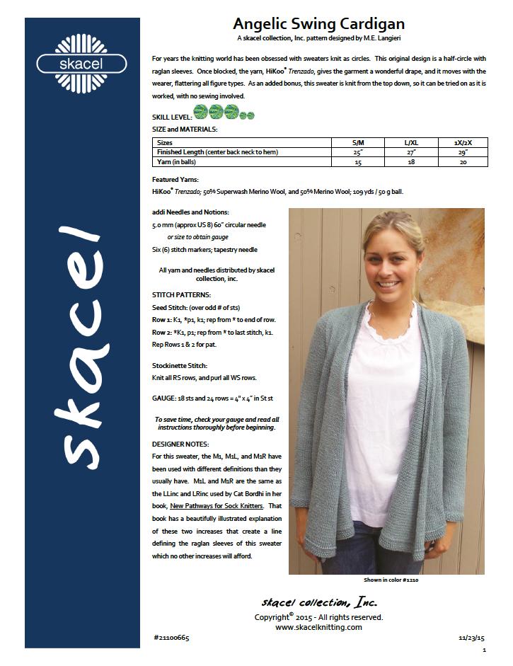 Angelic Swing Cardigan - free .pdf pattern download
