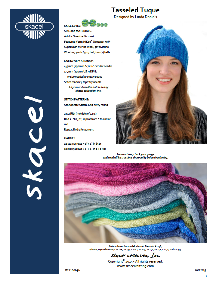 Tasseled Tuque - free .pdf pattern download