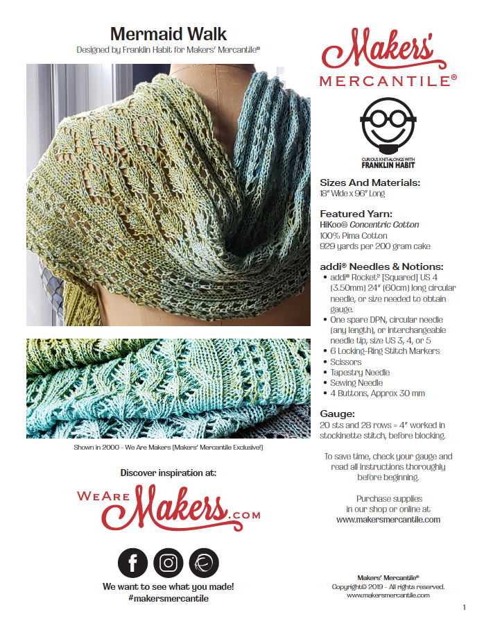 Mermaid Walk Scarf Pattern