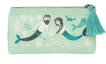 Sea Spell Pencil Cosmetic Bag