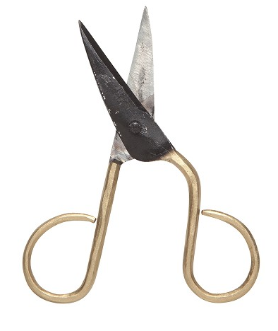Scissors Black/Gold Small