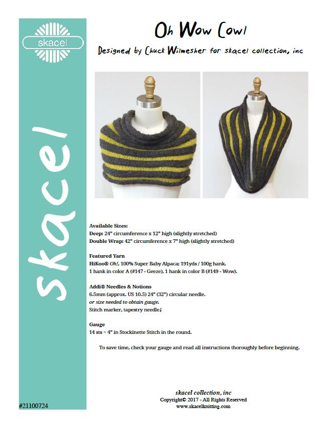 Oh Wow Cowl pattern .pdf download