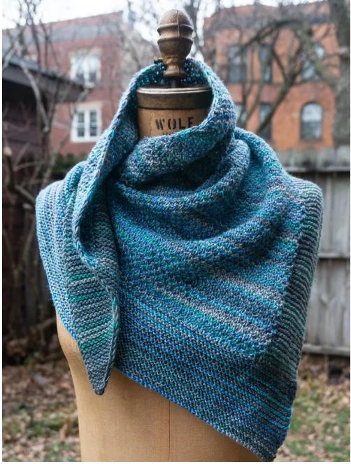Winter Sapphire Shawl