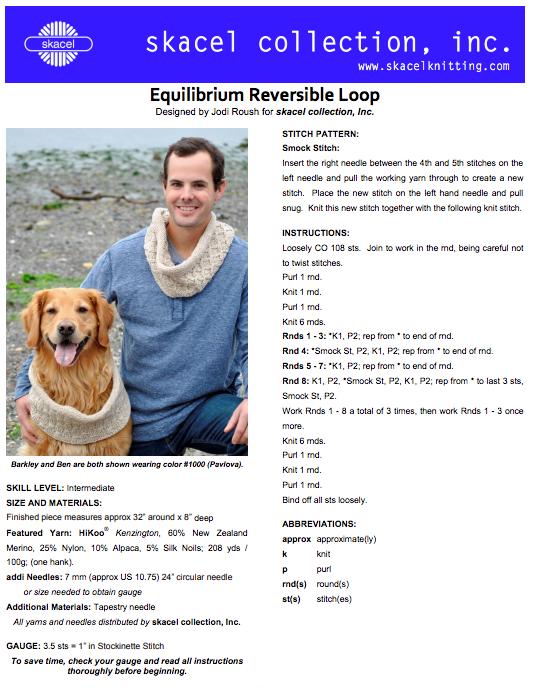 Equilibrium Loop Cowl  - free .pdf pattern download