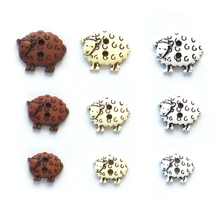 Sheep Plastic Buttons