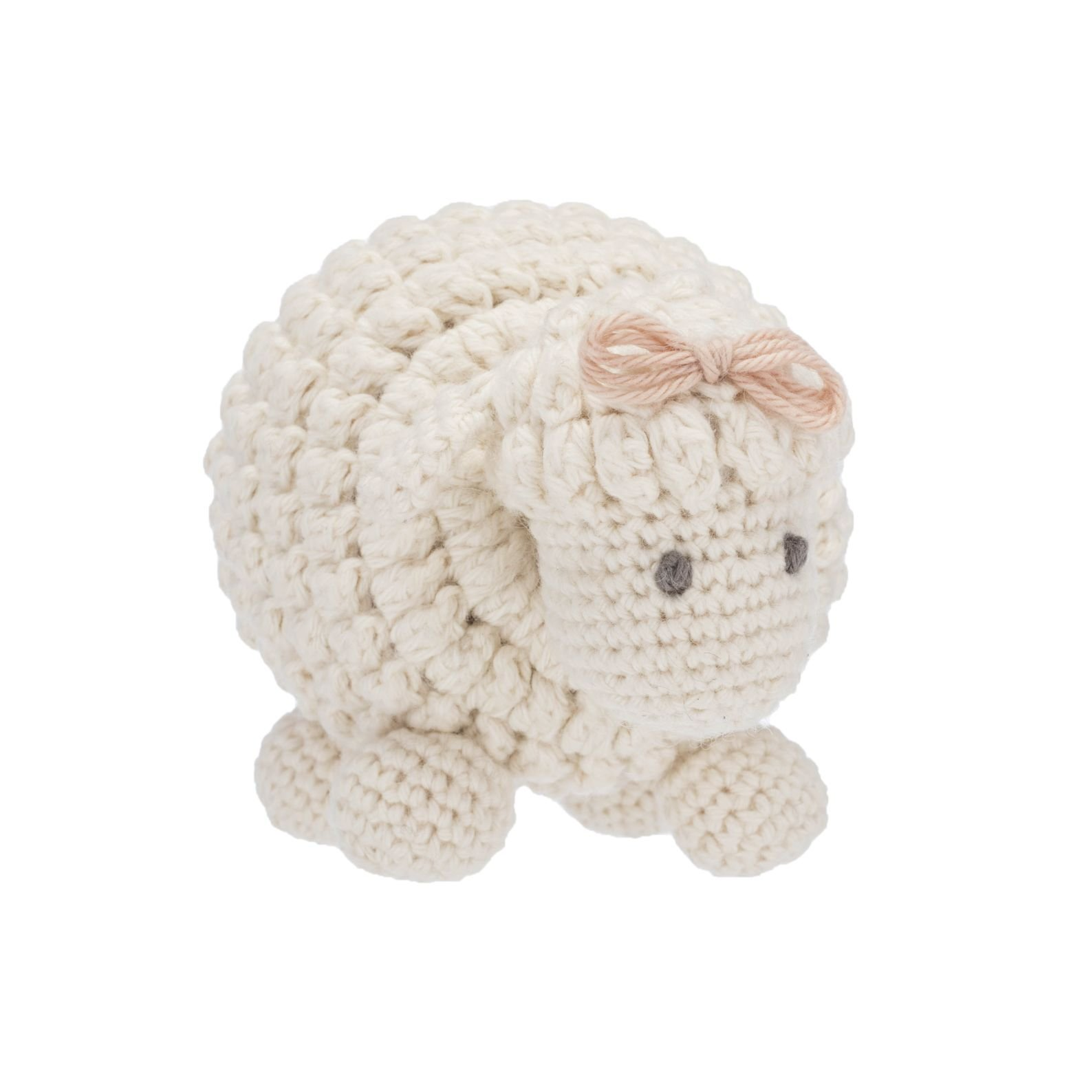 Darzzi Sheep Rattle Toy 100% Organic Cotton - Natural