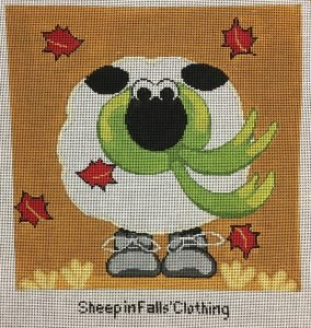 Annie Lane Needlepoint Canvas 9 x 9 - Sheep in Fall's Clothing
