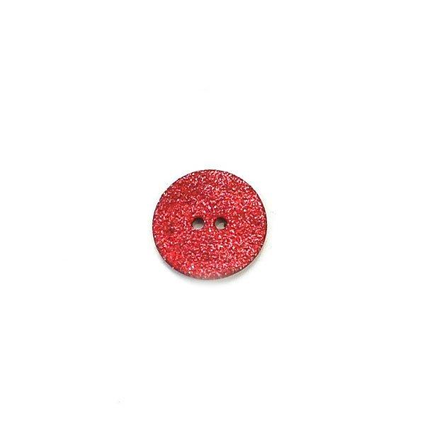 Agoya Shell Glittery Button