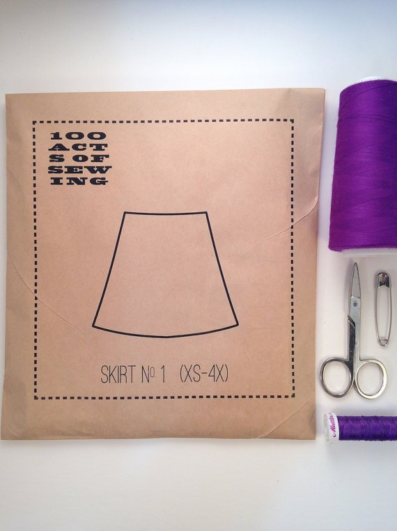 100 Acts of Sewing - Skirt no. 1 (XS-4X)