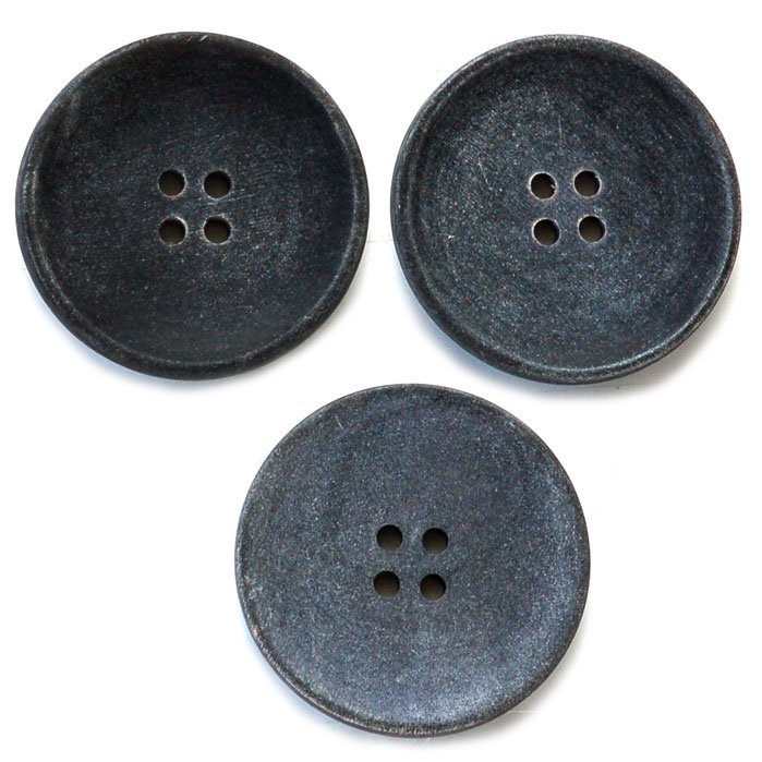 Gray Rustic Matte Horn Button