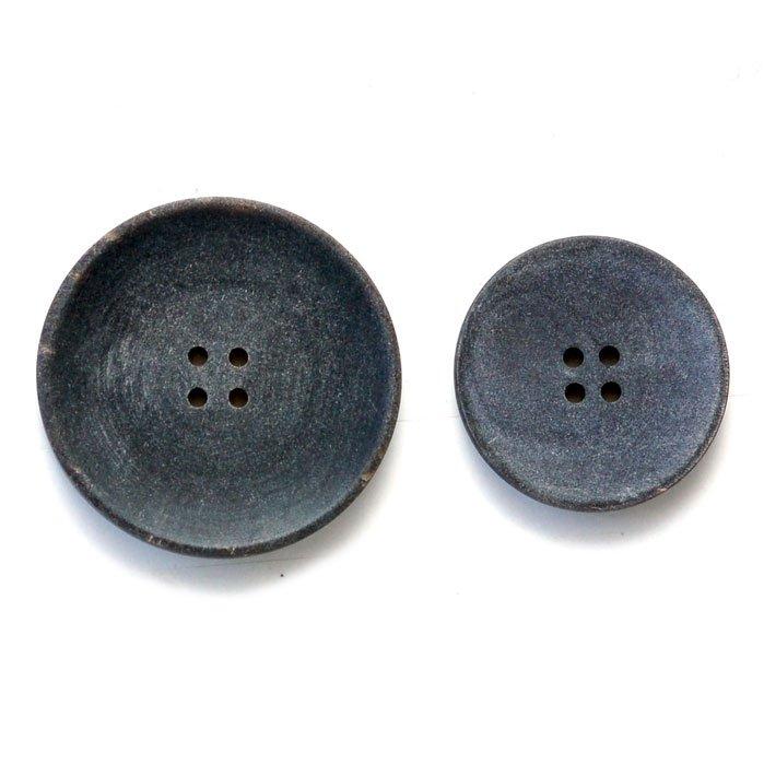 Gray Rustic Matte Horn Button