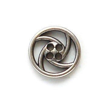 Spiraling Open Metal Button