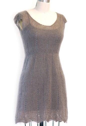 Skacel Pattern #21100544 Kid Seta Lux - Stardust Beaded Dress by Lauren Riker