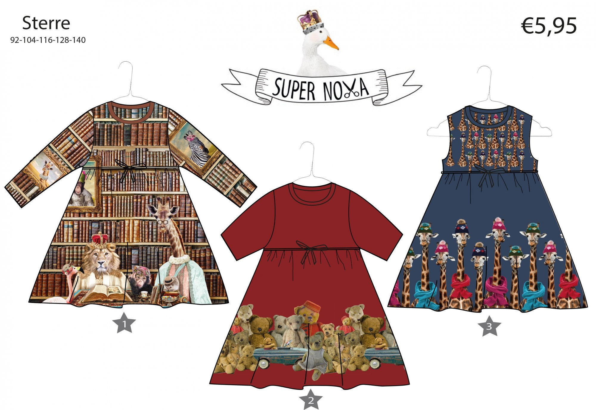 Stenzo Sewing Pattern - Sterre Child's Dress