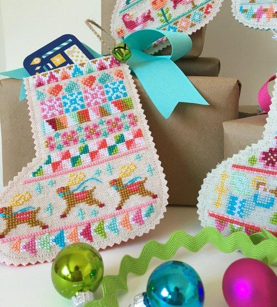 Satsuma Street Cross Stitch Pattern - Mini Stockings