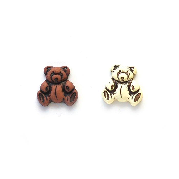 Teddy Bear Plastic Buttons