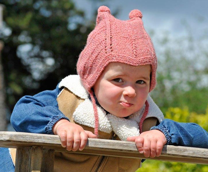 Toddlers Duo Peruvian Pom Pom Hat Pattern - PDF Download