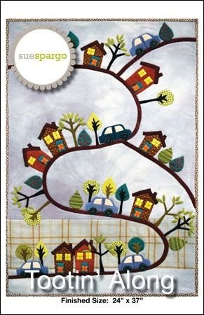 Sue Spargo Wallhanging Pattern - Tootin' Along