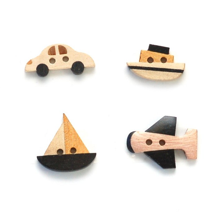 Toy Wood Button