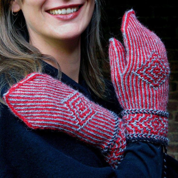 Twined Knitting Kit - Kerstin Mittens
