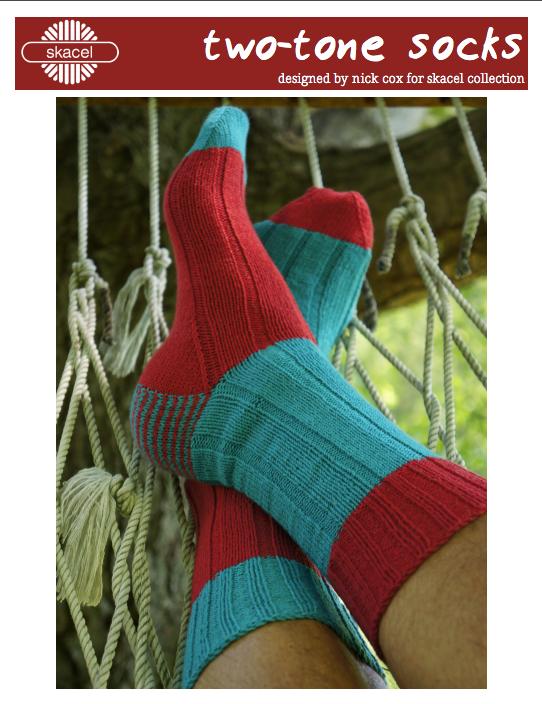 Two Tone Socks  - free .pdf pattern download