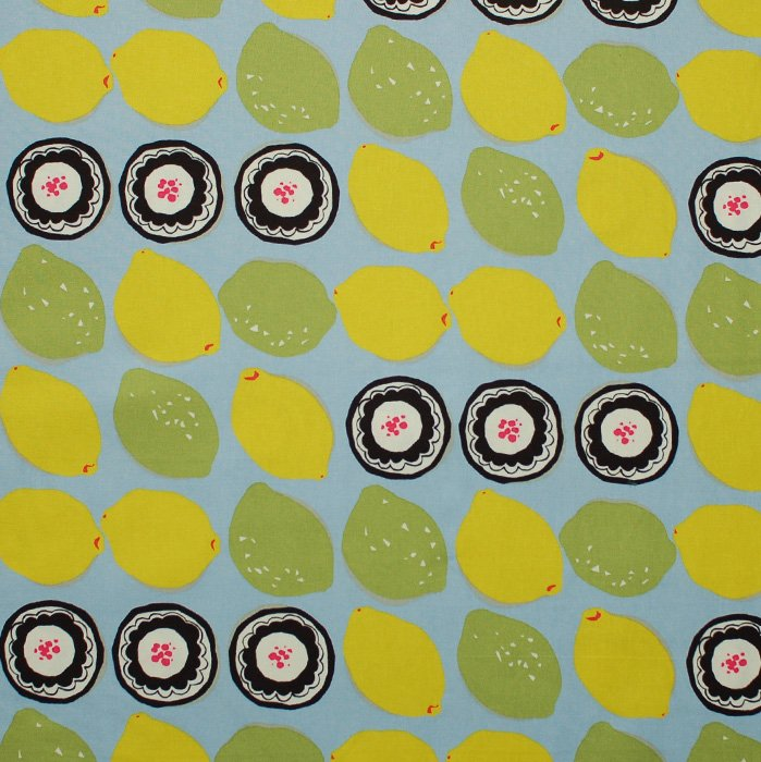 Lemons and Limes Kobayashi Canvas Fabric 45 wide - Seven Islands