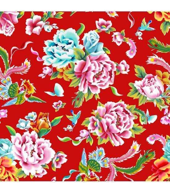 Velvet Lady of Shanghai in Red - Odile Bailloeul