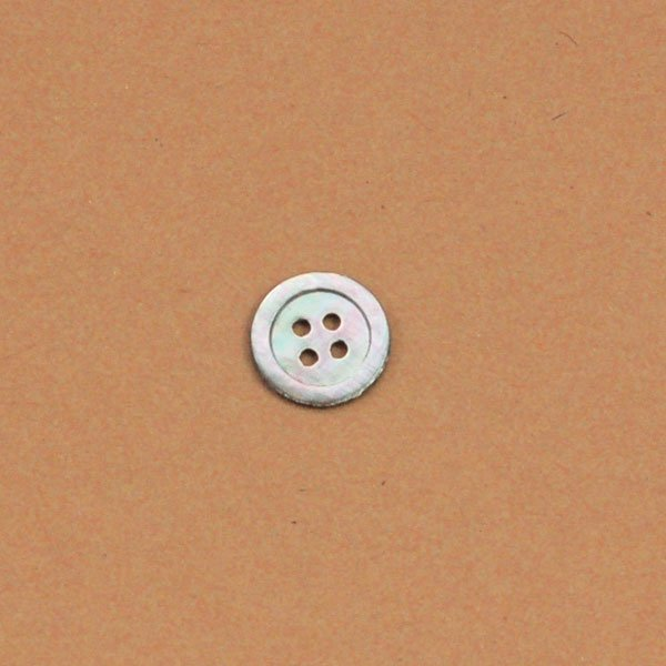 Gray Shell Vintage Button