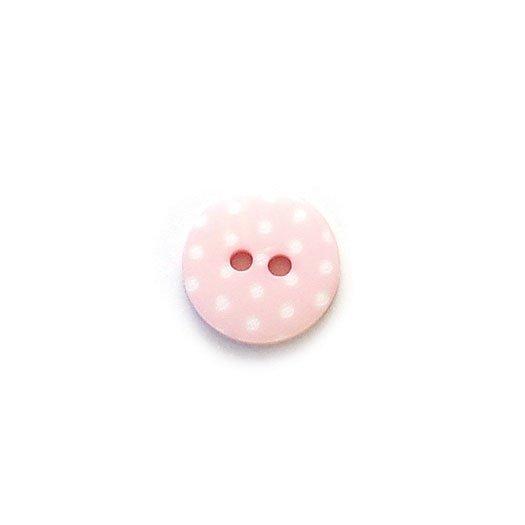White Polkadot Plastic Buttons