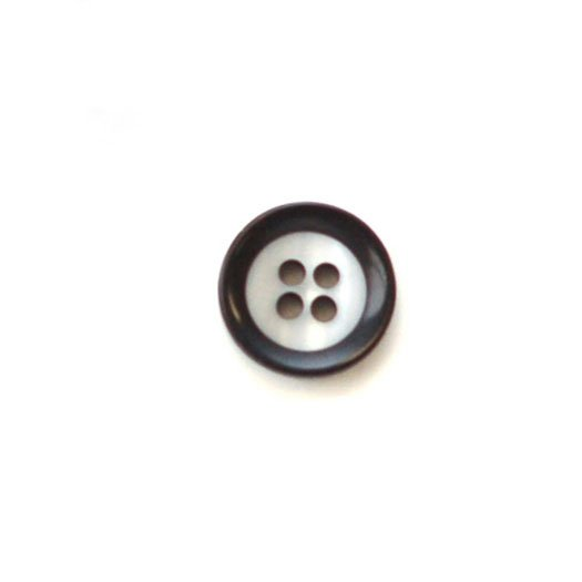 White with Wide Black Rim Plastic Buttons