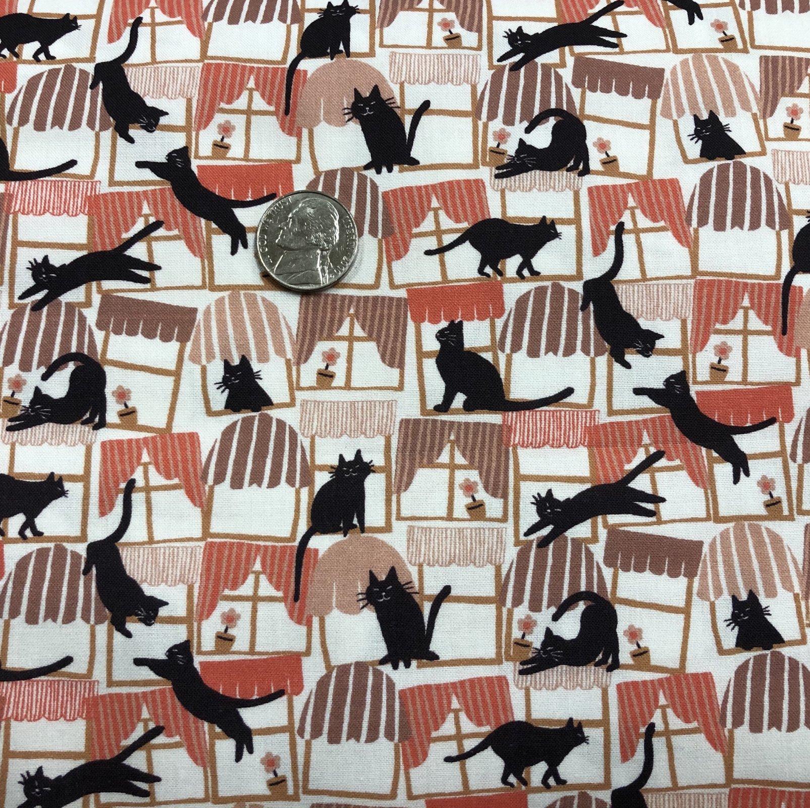 Hats for Cats - Cat Print Fabrics - Paintbrush Studio