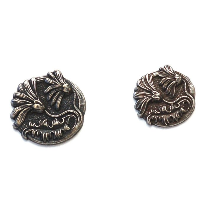 Windswept Flowers Metal Button