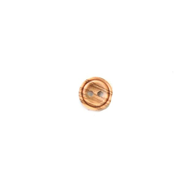 Concave Double Ring Lip Wood Button