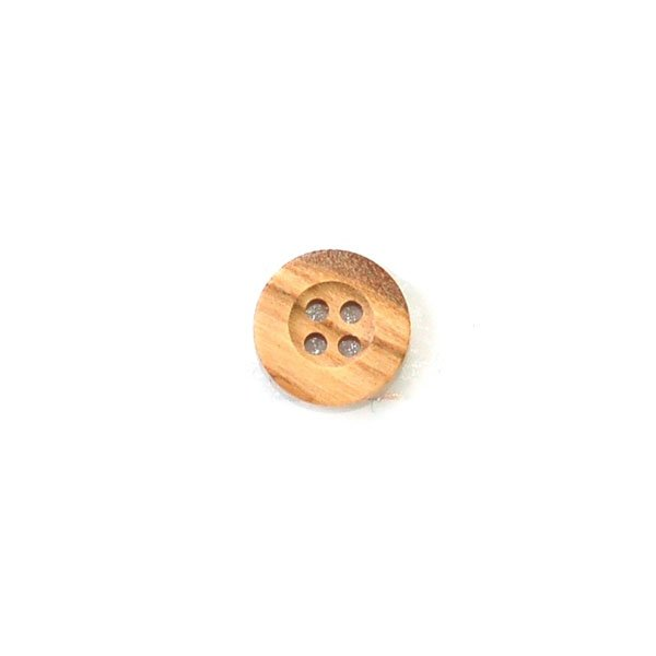 Inset Center Thick Rim Wood Button