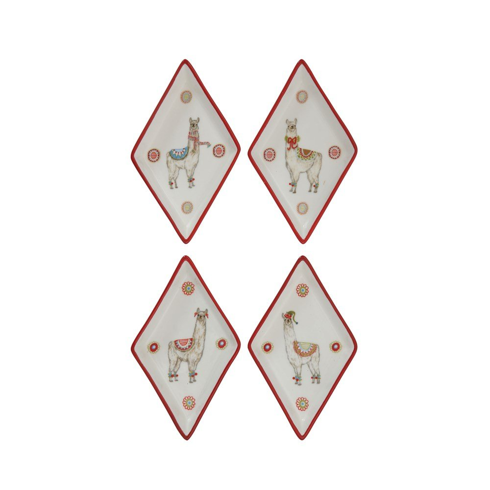 Diamond Llama Stoneware Plate