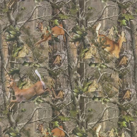 Realtree Running Deer in Camo Flannel
