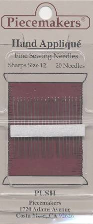 Piecemakers Hand Applique Sharps Needles Size 12