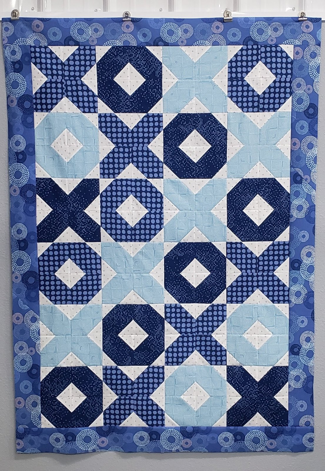 Hugs and Kisses in Blues Quilt Kit