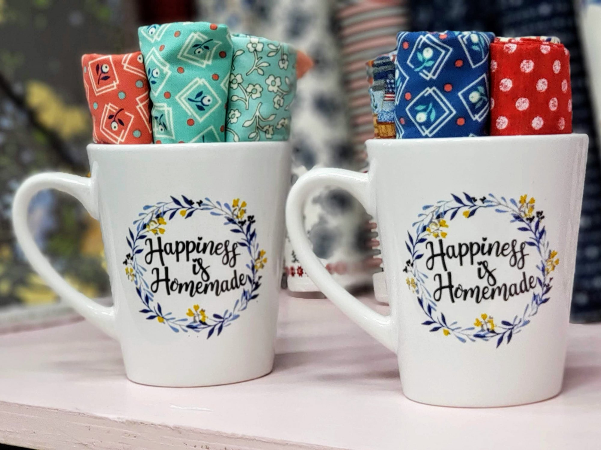 Cup of Happiness is Homemade Fat Quarters