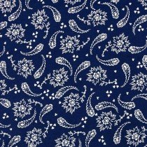 VINTAGE SHIRTINGS & DRESS PRINTS PAISLEY DARK INDIGO
