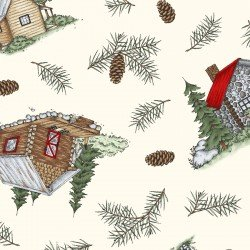 Cozy Cabin Cabin and Pine Tossed