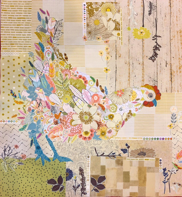 Hen Rietta Collage Chicken Pattern