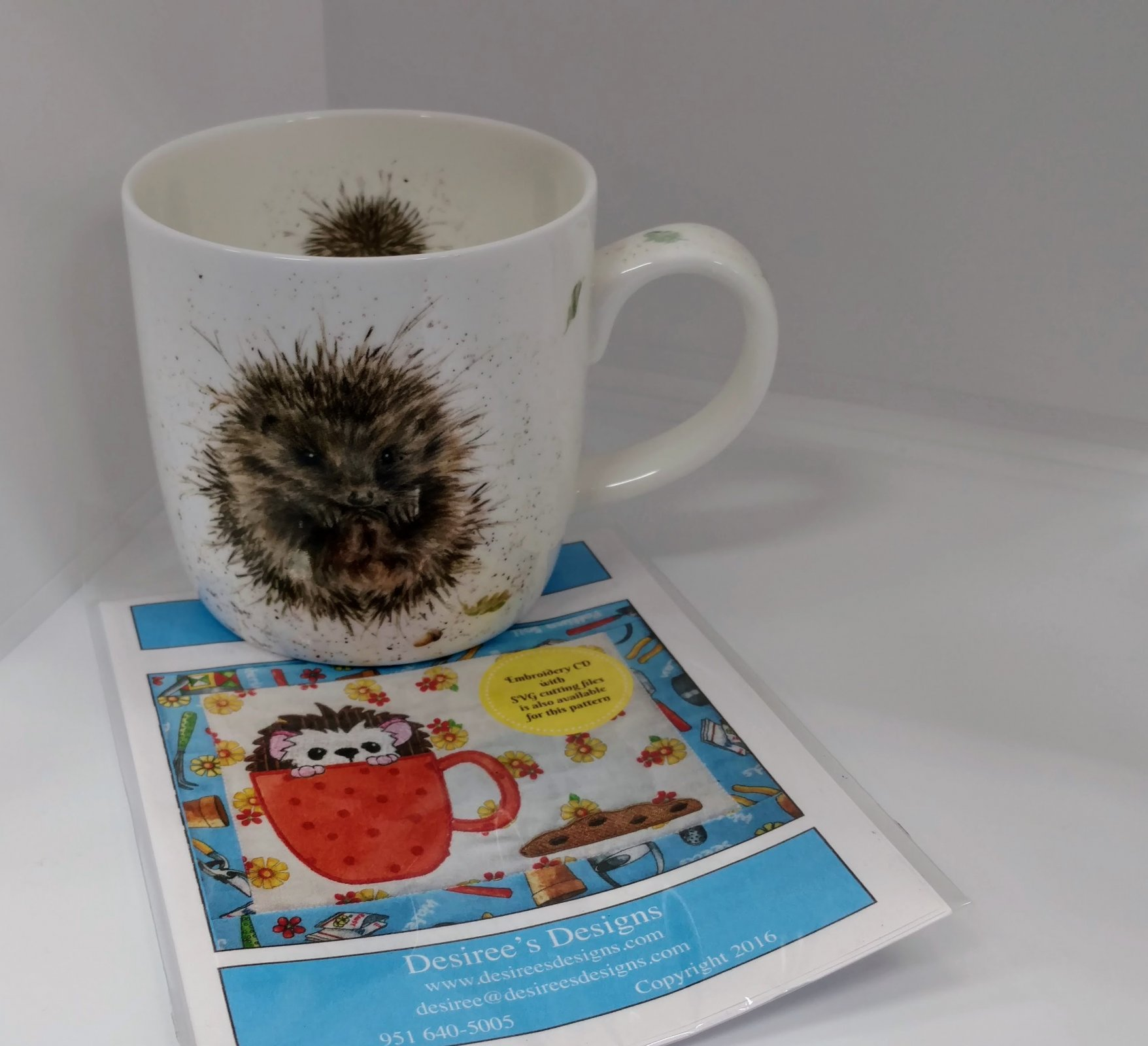 Hedgehog Mug and Rug Pattern
