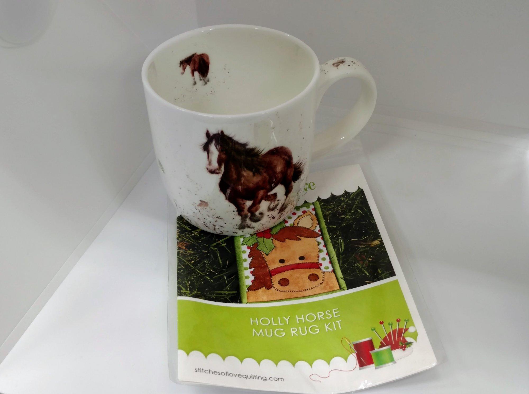 Horse Mug and Rug Pattern